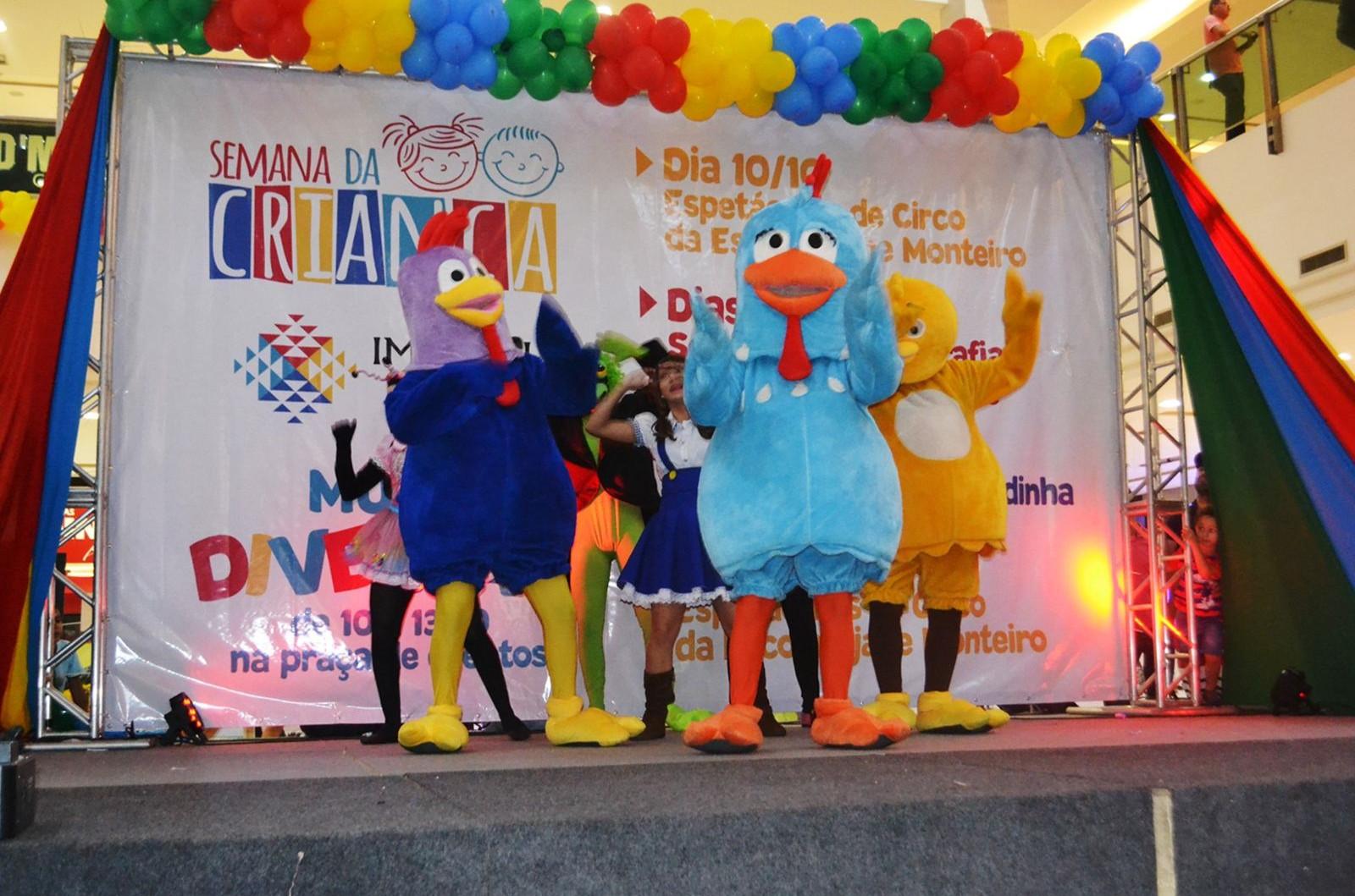 Shows contarão com personagens adorados pelas crianças. (Foto: Divulgação)