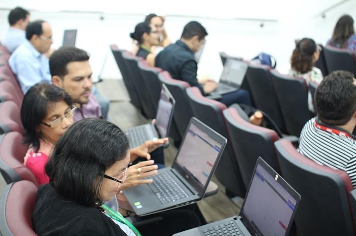 O facilitador Bruno Viotti (Steinbeis-SIBE do Brasil) ministrou o treinamento. (Foto: Foto: Site IFMA)