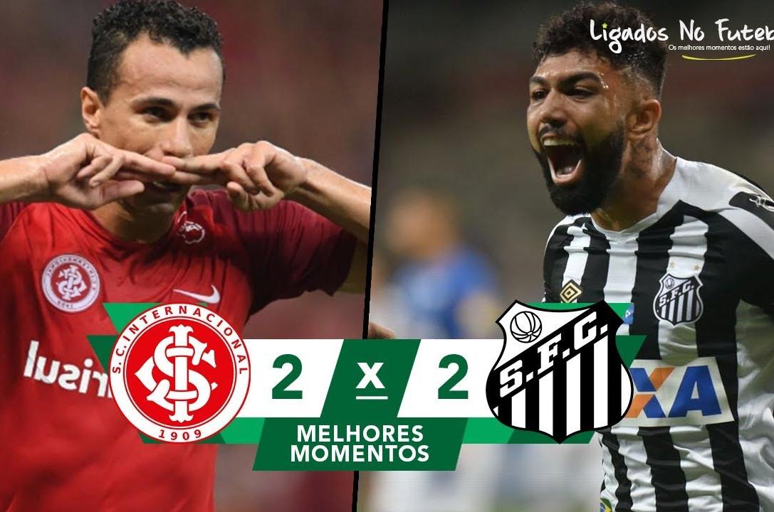 Inter e Santos ficam no empate em 2 x 2, no Beira Rio, fechando a 30ª rodada. (Foto: You Tube)