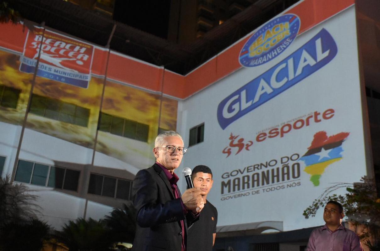 Eurico Pacífico, presidente da Federação Maranhense de Beach Soccer. (Foto: Paulo de Tarso Jr)