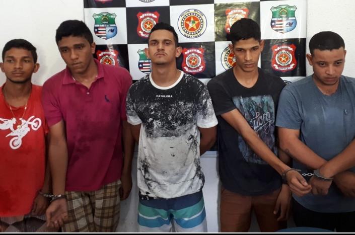 Cinco homens foram presos nesse domingo. (Foto: Divulgação)