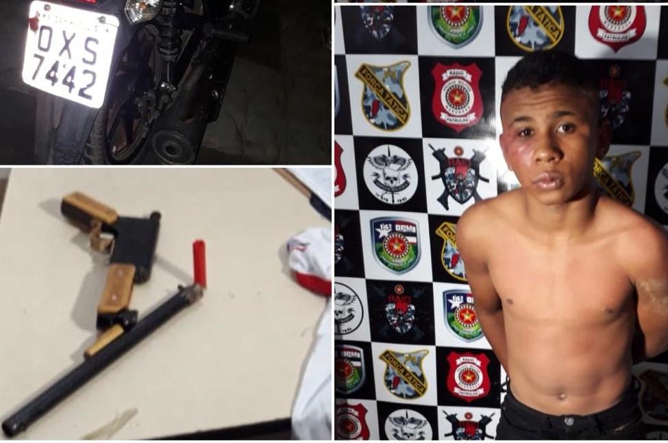 Douglas de Sousa Dias era quem pilotava moto roubada. (Foto: Reprodução)