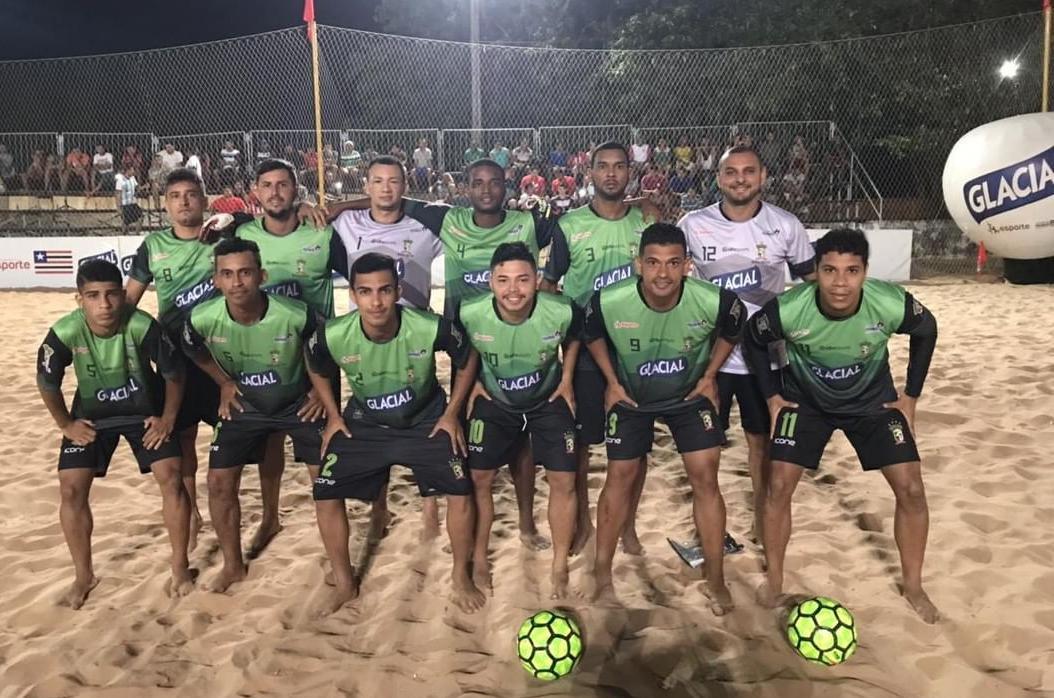 Pinheiro faz a final do Beach Soccer contra a equipe de Santa Helena. (Foto: Paulo de Tarso Jr.)