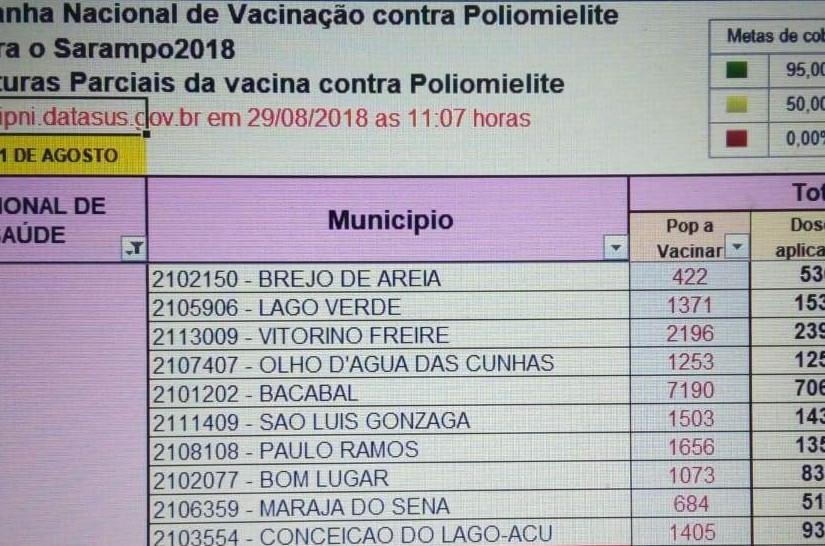 Os estados que atingiram a meta de vacinação são Amapá, Santa Catarina, Pernambuco, Rondônia, Espírito Santo, Sergipe e Maranhão. (Foto: (Foto: divulgação))