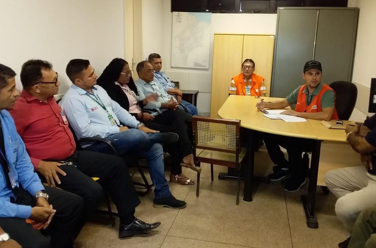 Reunião aconteceu no escritório da MOB na rodoviária de Imperatriz. (Foto: Hemerson Pinto)
