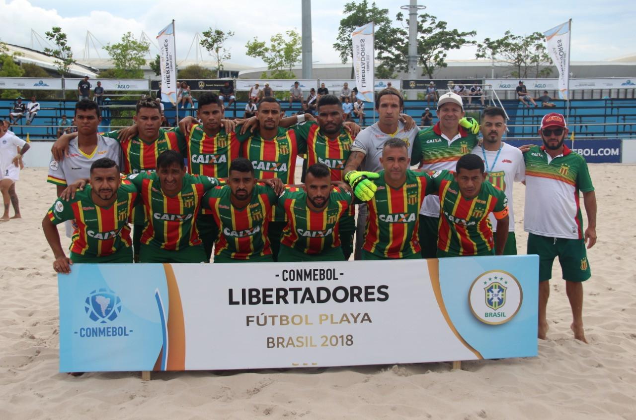 Sampaio termina na 3ª posição na Libertadores de Beach Soccer. (Foto: João Vital/CBBS)