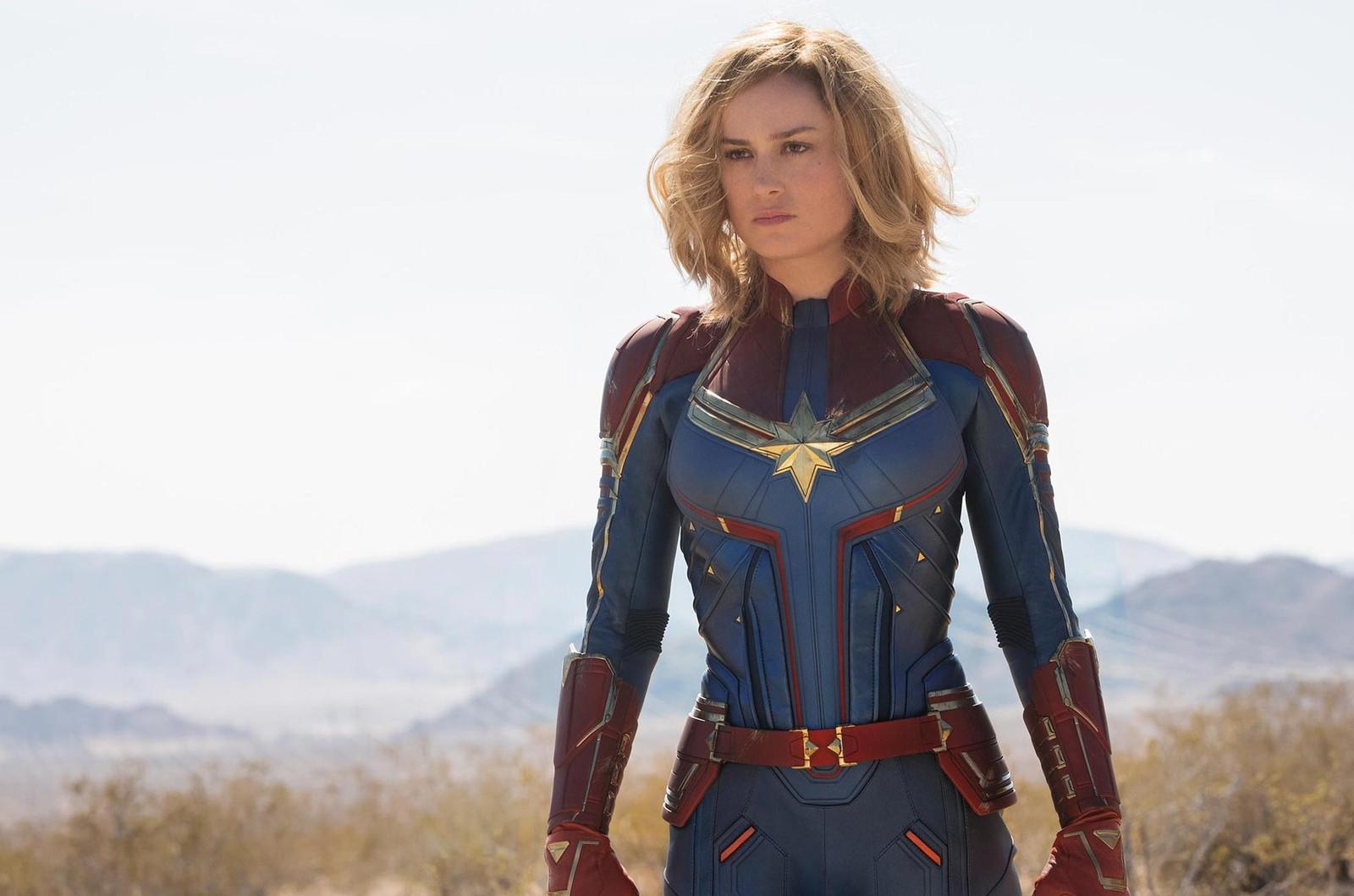Brie Larson como a heroína de 'Capitã Marvel'. (Foto: Chuck Zlotnick/Marvel Studios)