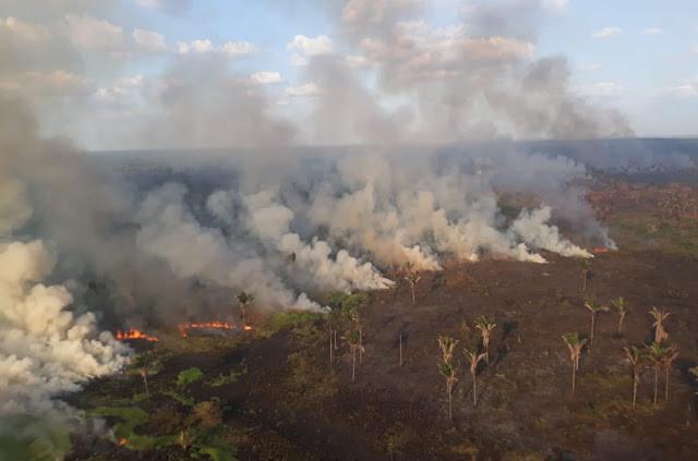 Causas do incêndio ainda são investigadas pelas autoridades de Coroatá. (Foto: (Foto: Reprodução))