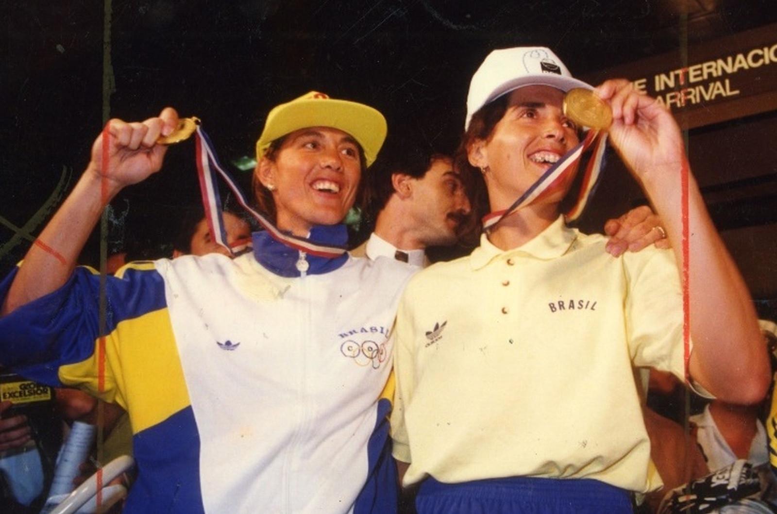 Hortência e Paula quando jogavam pela Seleção Brasileira de Basquetebol. (Foto: Divulgação)