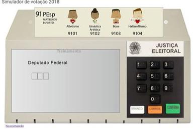 Antes de simular o usuário deve escolher o turno da eleição. (Foto: Tribunal Superior Eleitoral)