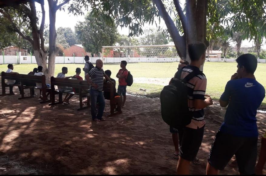Em Imperatriz, a peneira do Sampaio foi realizada no CT do Tocantinópolis. (Foto: Blog do Afonso Diniz)