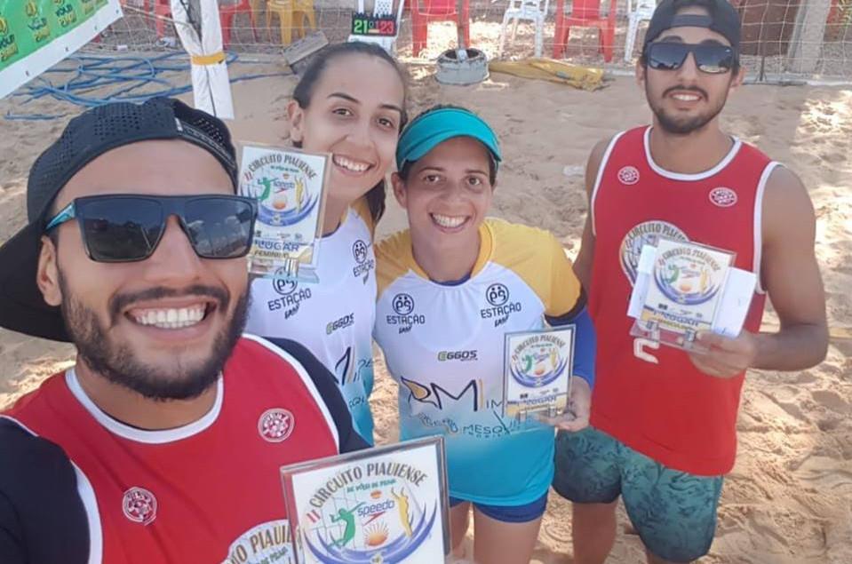 Duplas maranhenses conquistam títulos no Vôlei de Praia, no estado do Piauí. (Foto: Divulgação)