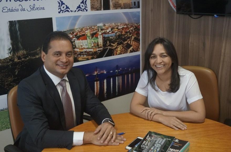 Weverton Rocha e Eliziane Gama. (Foto: Reprodução/Internet)