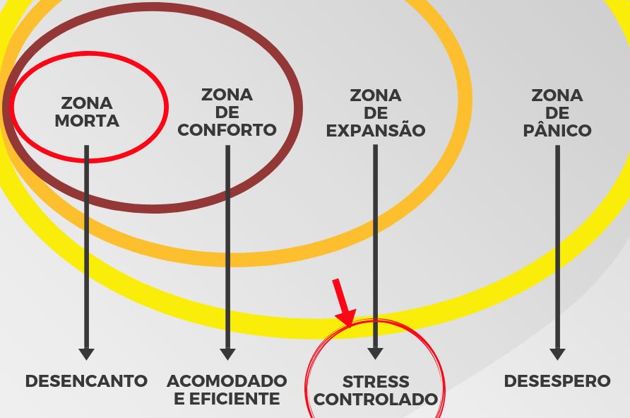 Zona de conforto, pânico e desafio. (Foto: Reprodução)