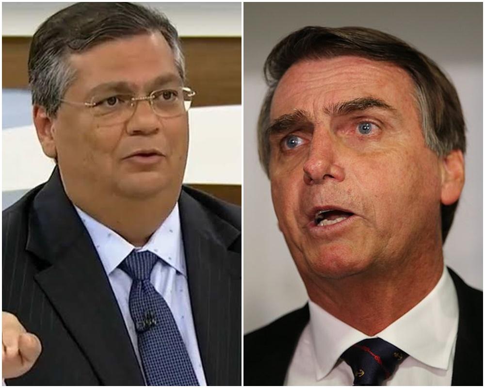 Flávio Dino e Jair Bolsonaro (foto: internet)