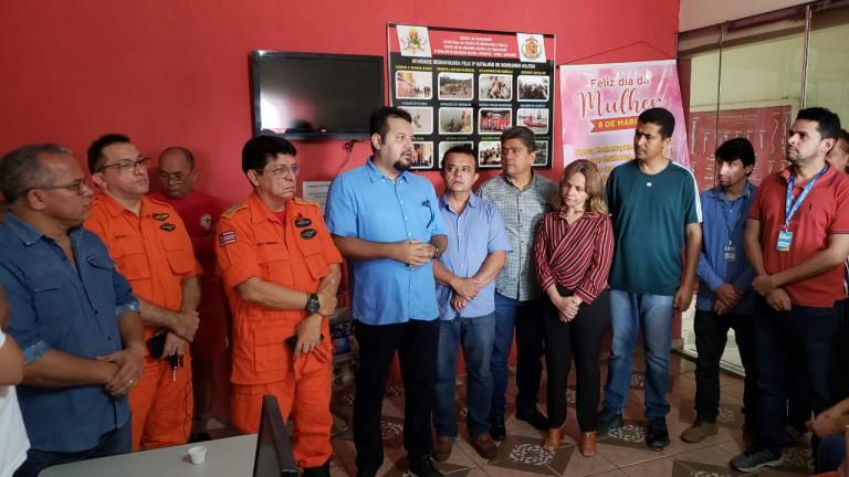 Em Imperatriz, Clayton Noleto discute ações para minimizar os impactos da chuva na Região Tocantina.