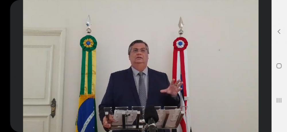 O governador Flavio Dino em entrevista coletiva via web