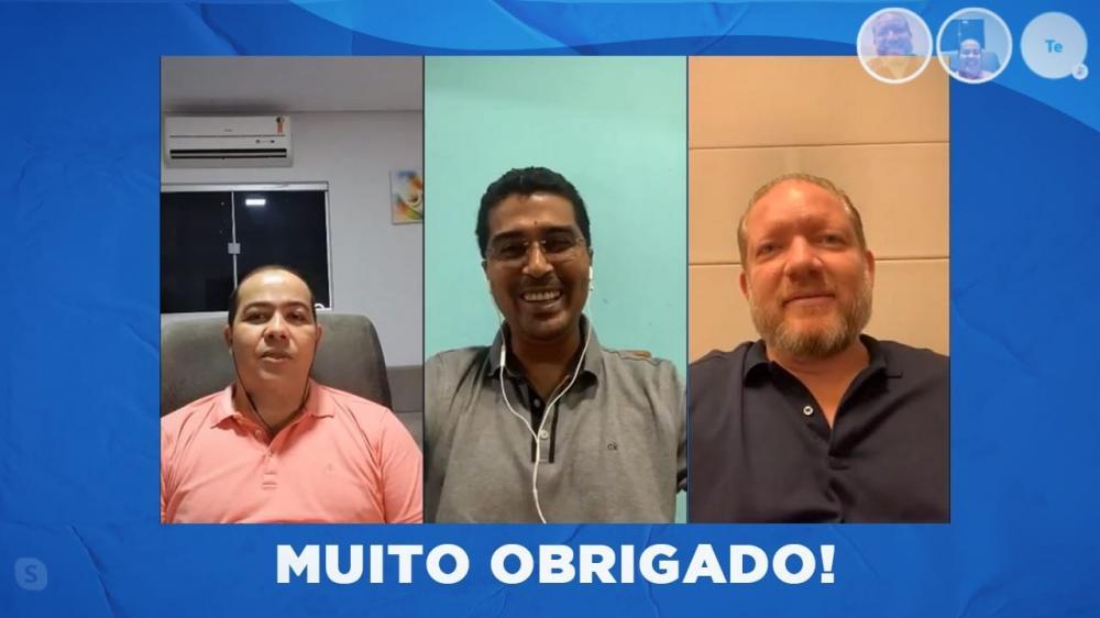 Deputados Rildo Amaral, Prof. Marco Aurélio e o Presidente Othelino Neto conversam ao vivo com lideranças e populares.
