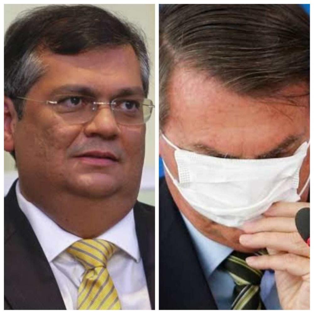 Montagem põe Dino e Bolsonaro
