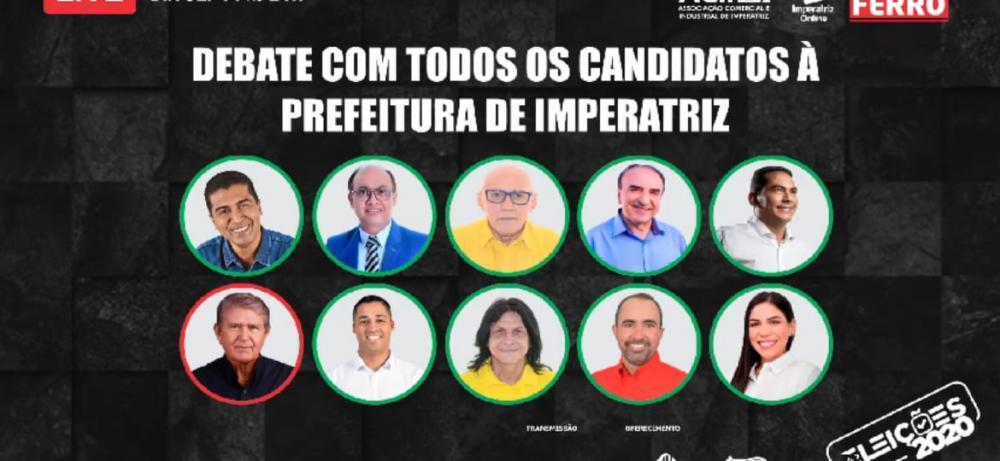 Todos os candidatos foram convidados para participar. Dois não compareceram