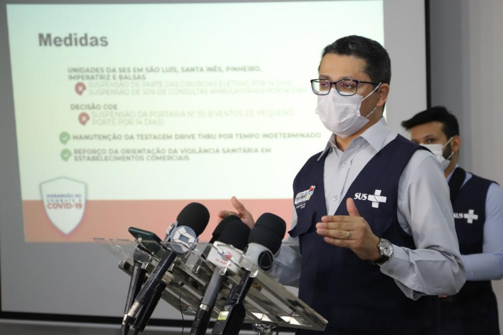 Secretário Carlos Lula apresentou detalhes em coletiva de imprensa (Foto: Julyane Galvão)